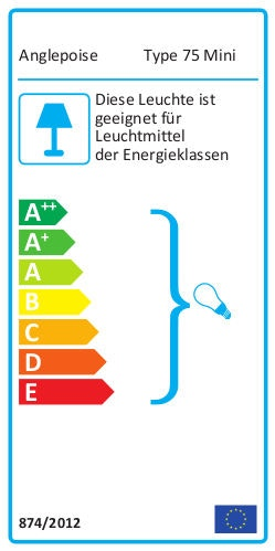 Anglepoise Type 75 Mini Energielabel