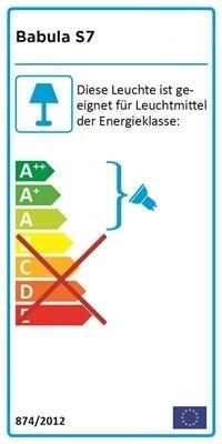 Babula Pendelleuchte S7 Energielabel
