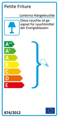 Lanterna Hängeleuchte Energielabel