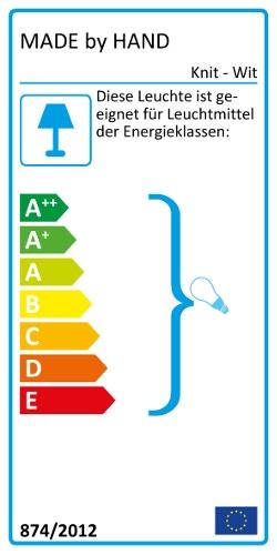 Knit - Wit Hängeleuchte Energielabel