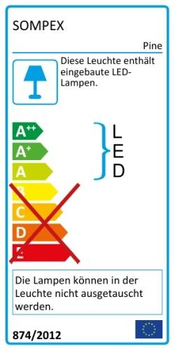 Sompex Pine Outdoor LED Dekoleuchte Energielabel
